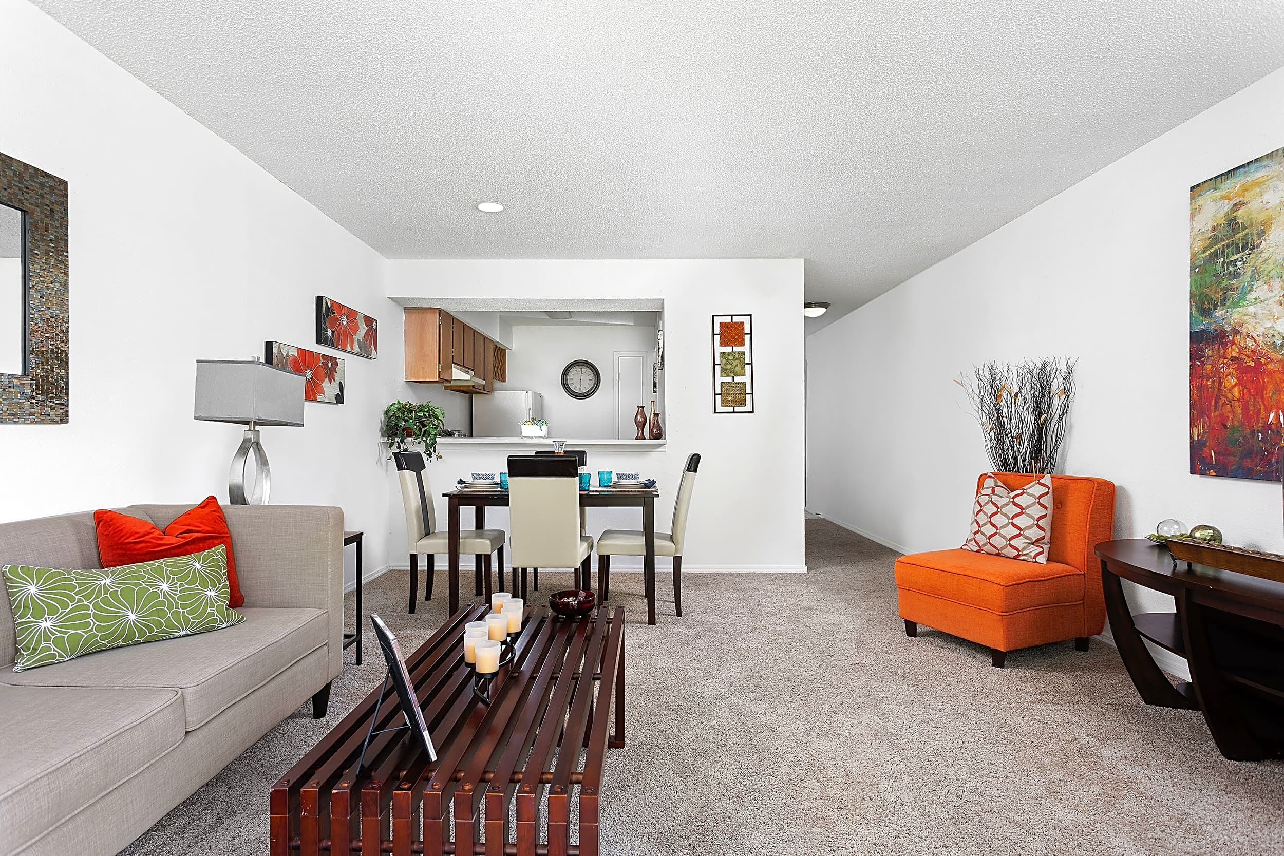 Open Living and Dining Room - Invitational Apartments