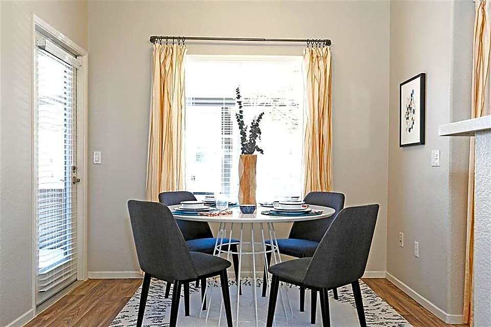 Separate dining spaces are perfect for a weekday meal or can even be made into an office space
