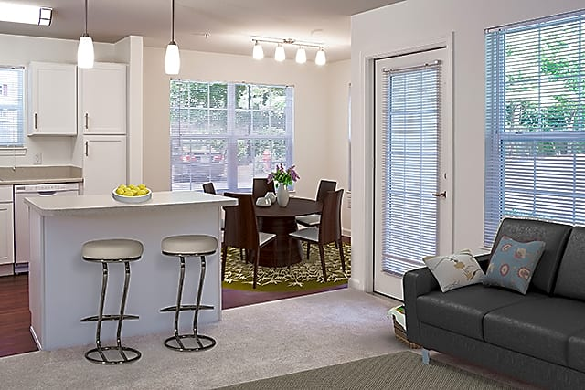 One Bedroom Kitchen and Dining (Avalon Oaks - Building 4000)