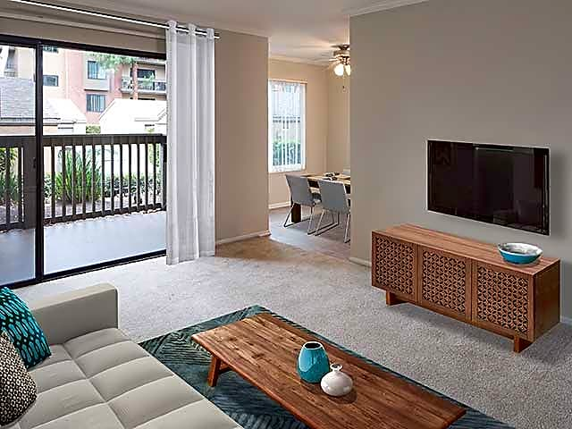 Upgraded Apartment - Living Room and Dining Area