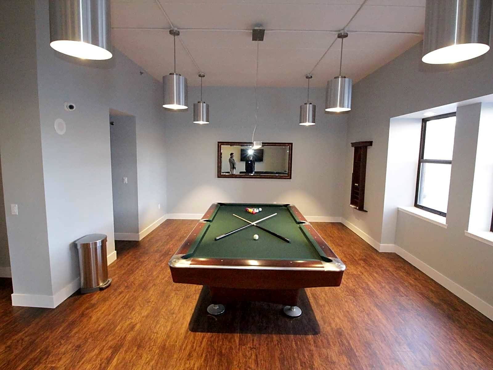 New Media Room With Billiard Table