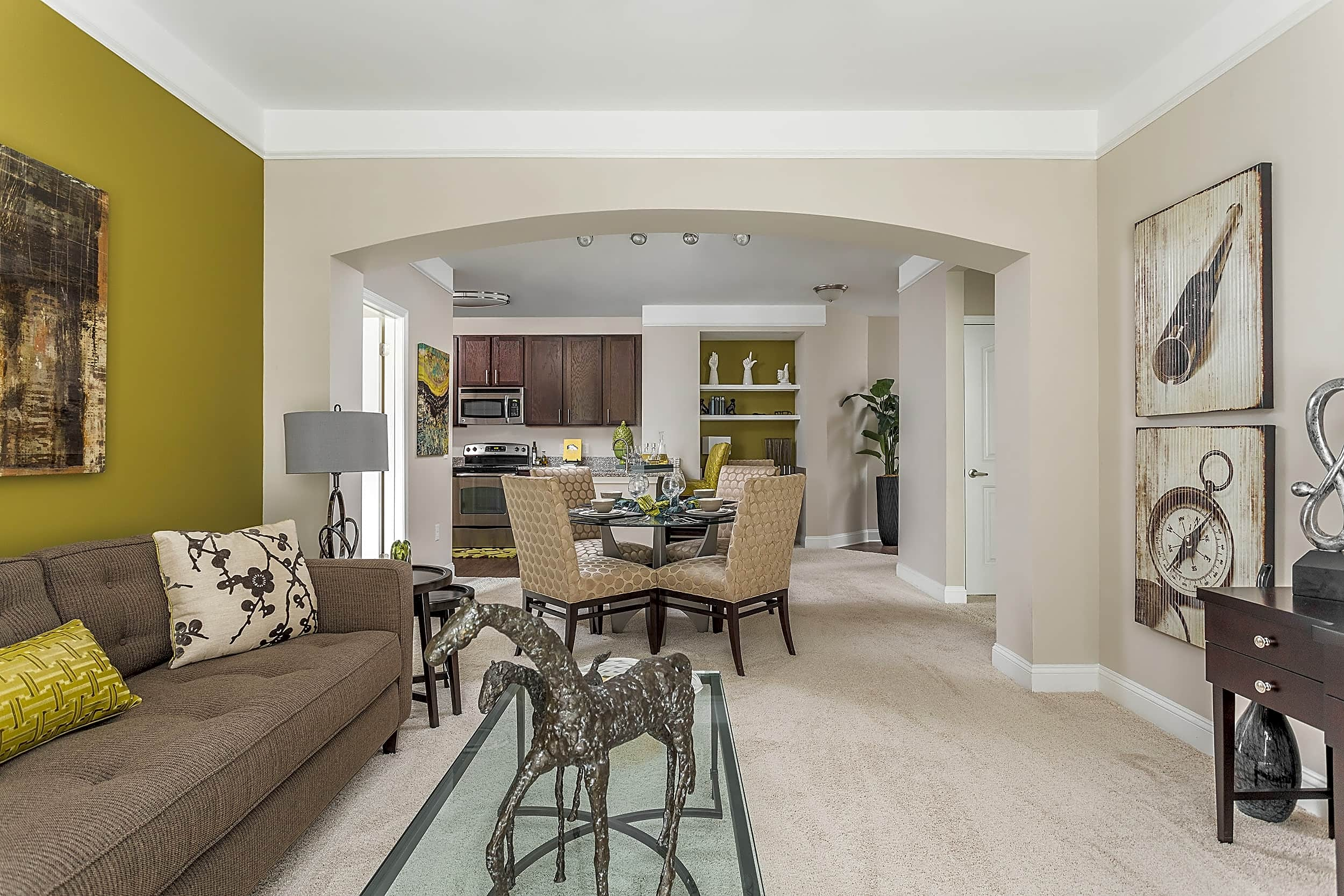 Spacious Open Living and Dining Room - Creekstone at RTP