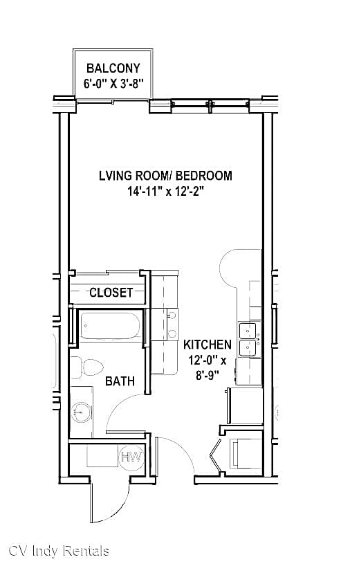 Apartments Near IUPUI CV Indy Luxury Rentals for Indiana University-Purdue University Students in Indianapolis, IN