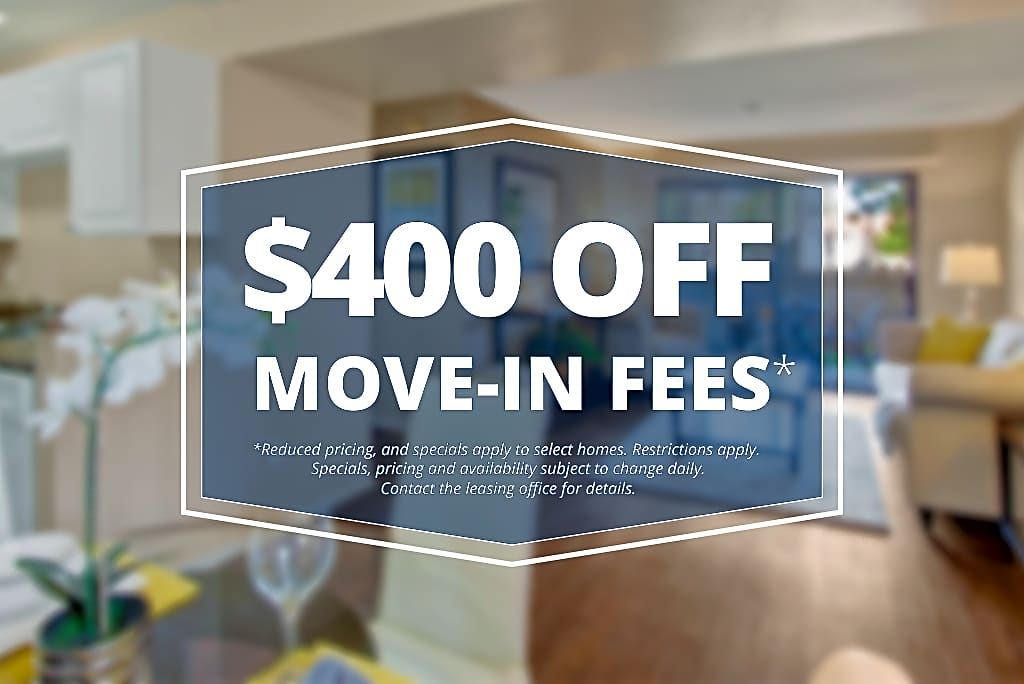 Specials savings coupon $400 off