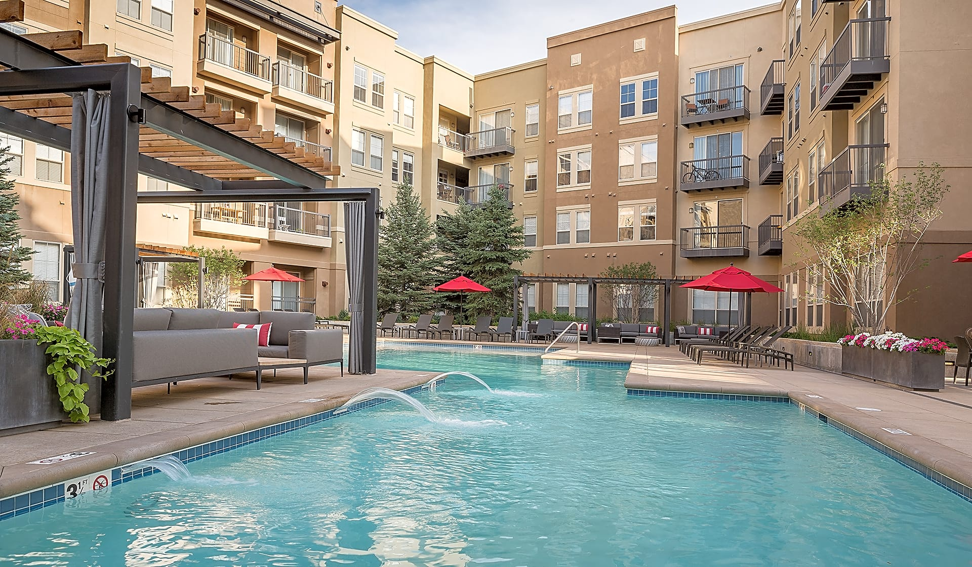 Take a dive into the new heated pool