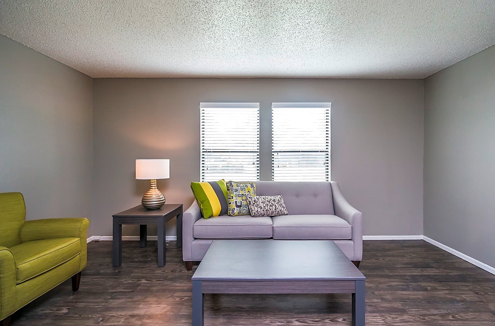 Living Room Interior at the Westwood Park Apartments in Norman, OK