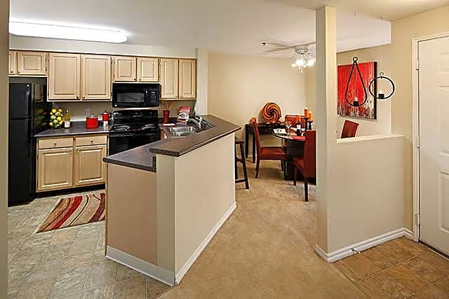 Two Bedroom Apartment Dining/Kitchen Area