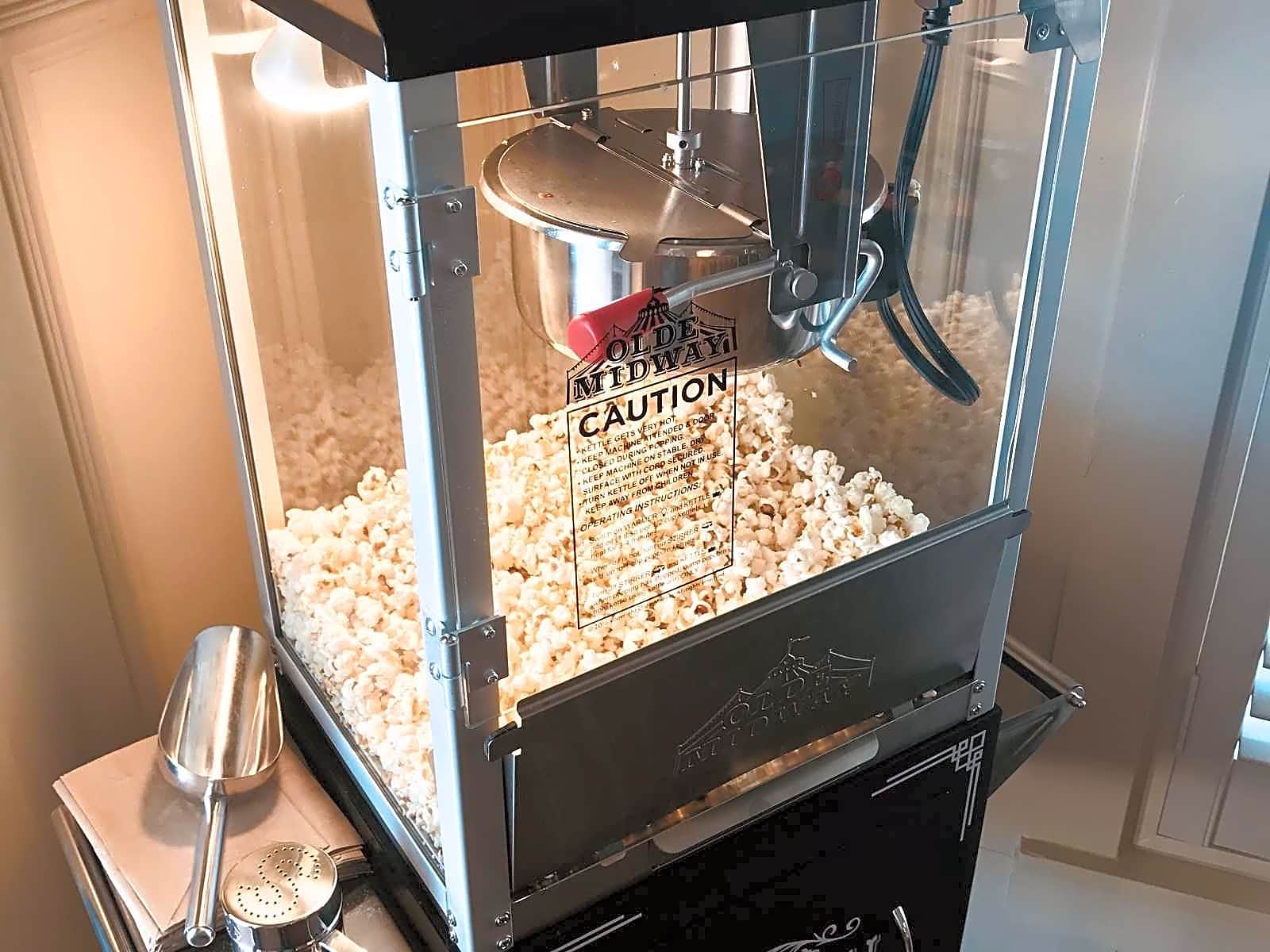We're popping corn at Tradition today!  Come in and taste our fresh popcorn at The Club, from our NEW Olde Midway Vintage Style Popcorn Machine!