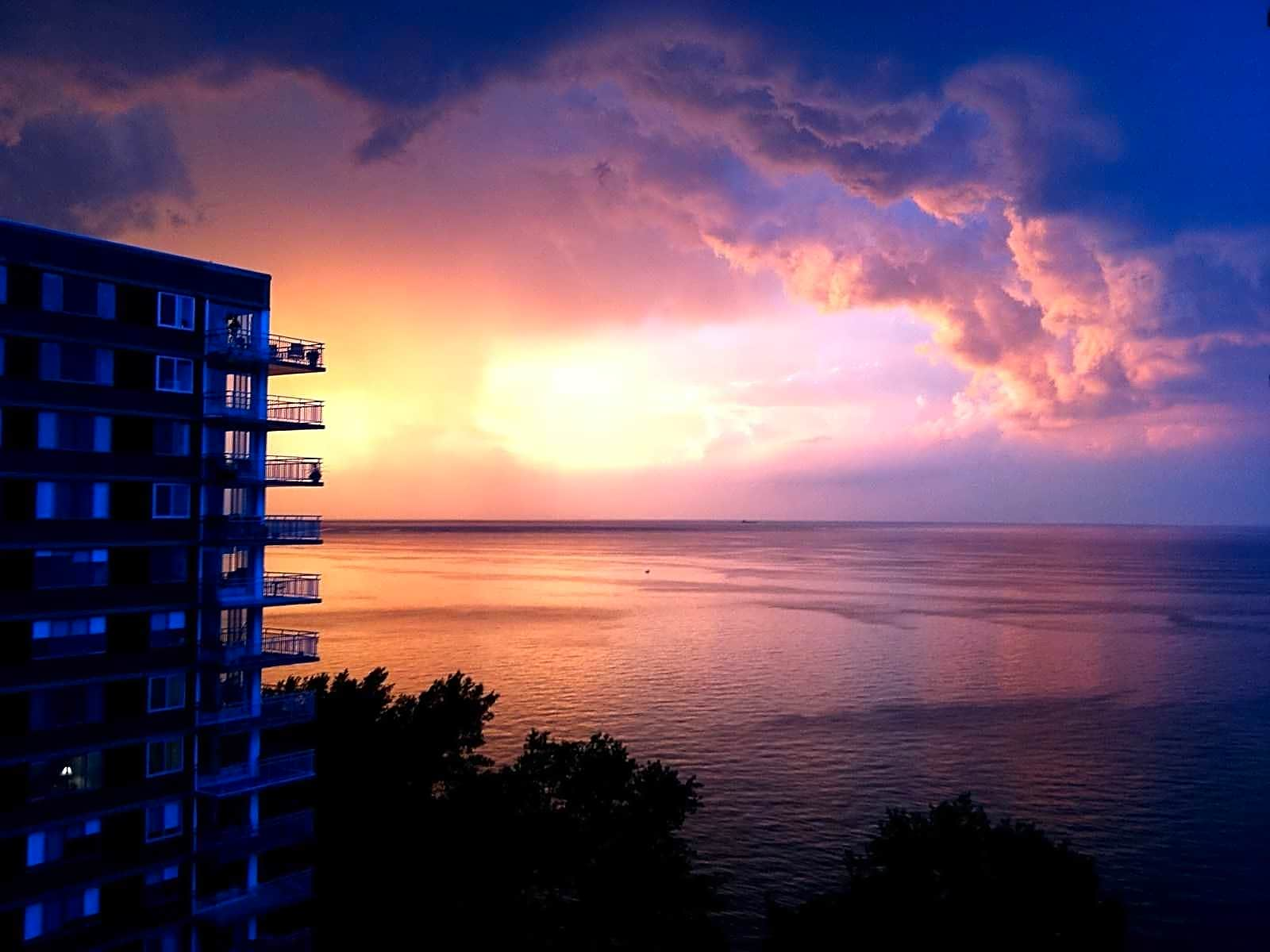 great sunset views from your balcony