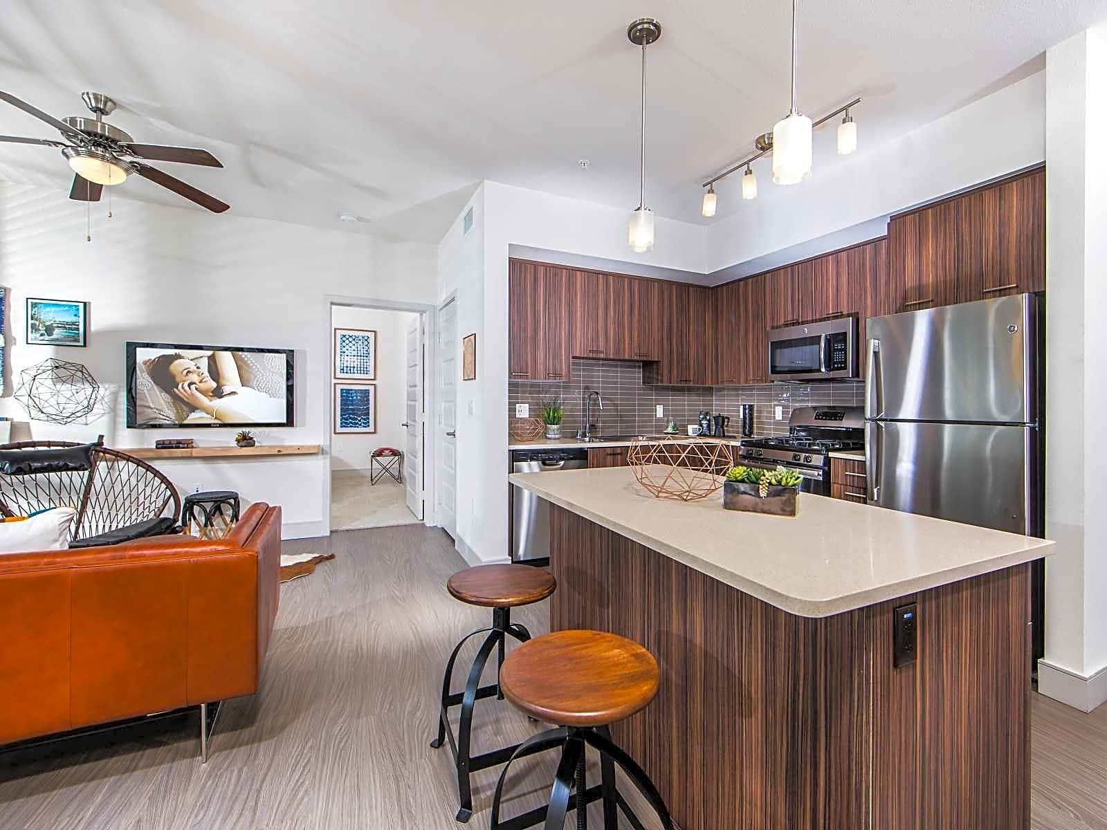 Select homes feature kitchen islands with USB charging outlets