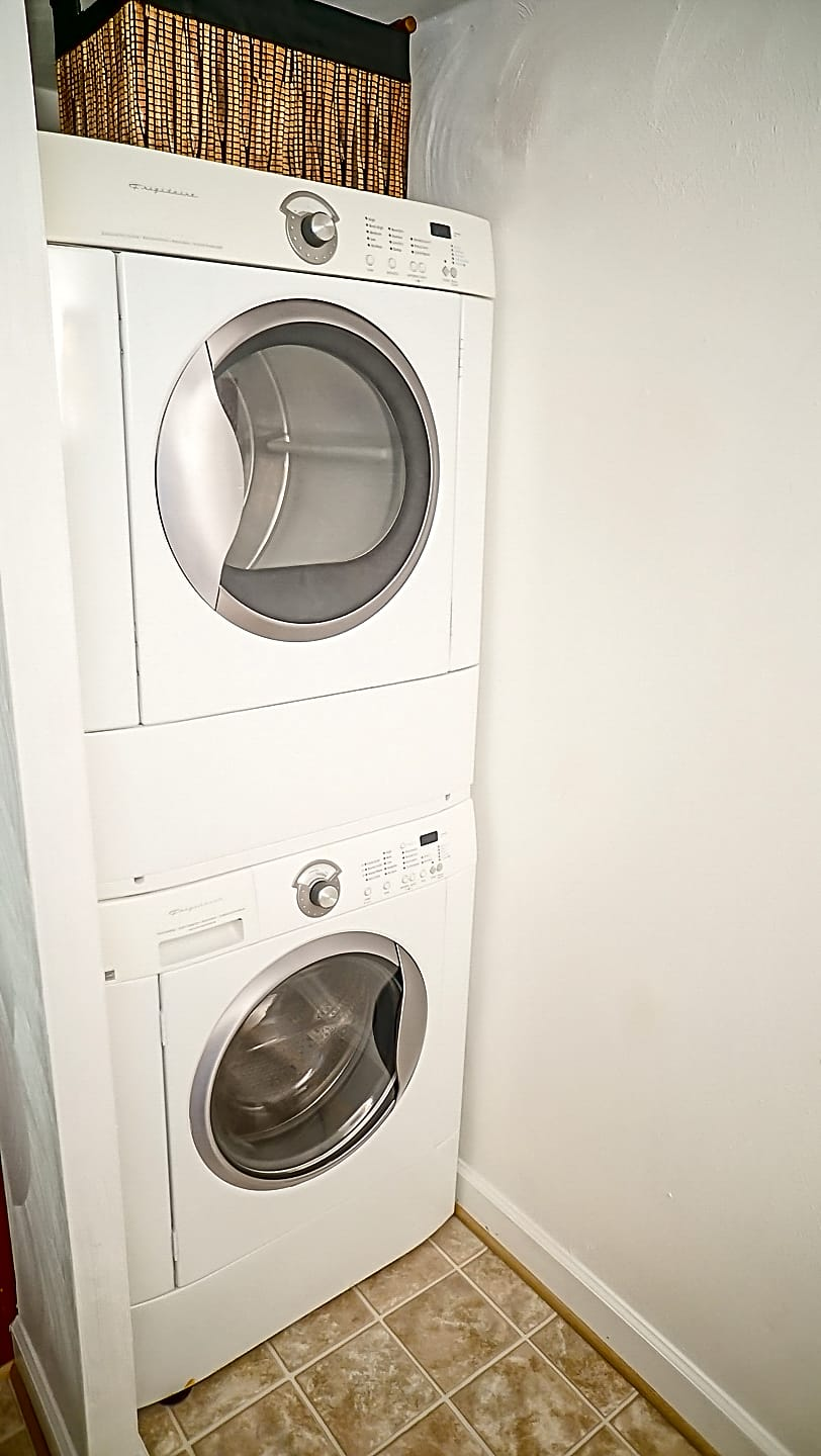 Full-size washer and dryer is included in your new apartments at no extra charge.