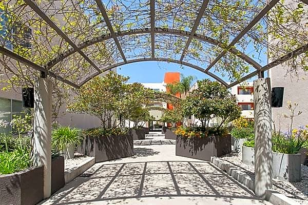 Expansive courtyard