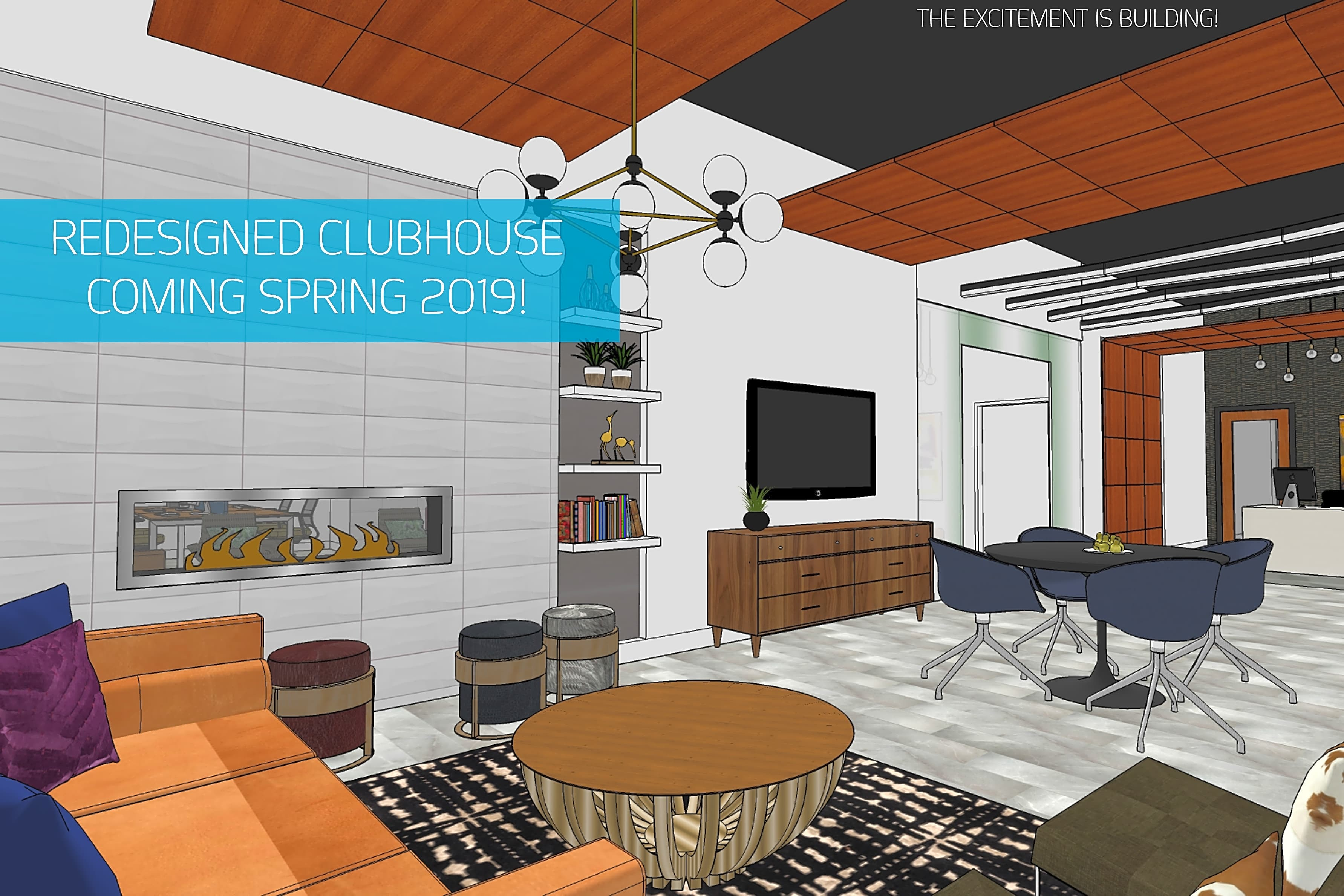 REDESIGNED CLUBHOUSE COMING EARLY 2019!