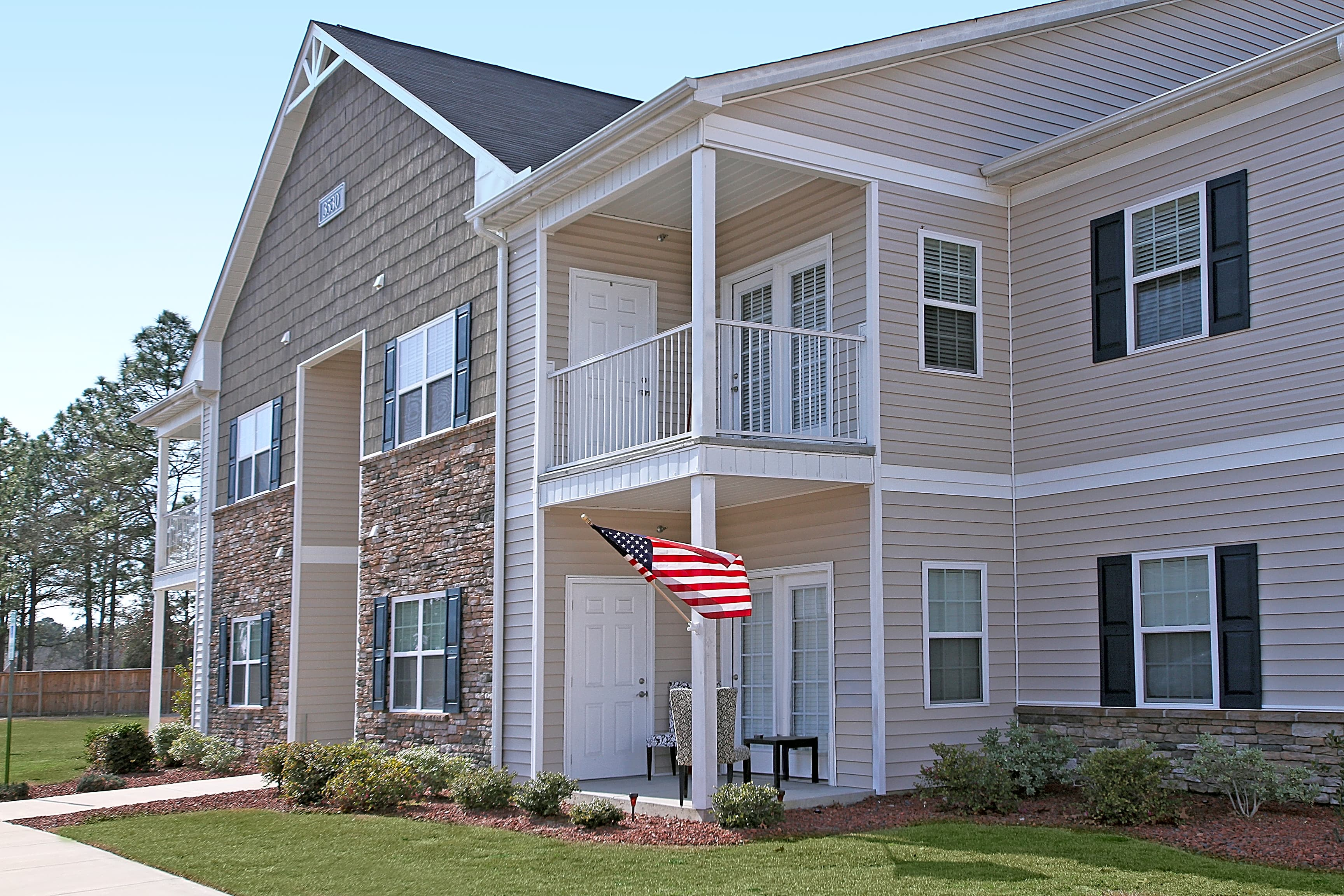 Apartments Near Fayetteville Birchfield at Millstone Towne Centre for Fayetteville Students in Fayetteville, NC