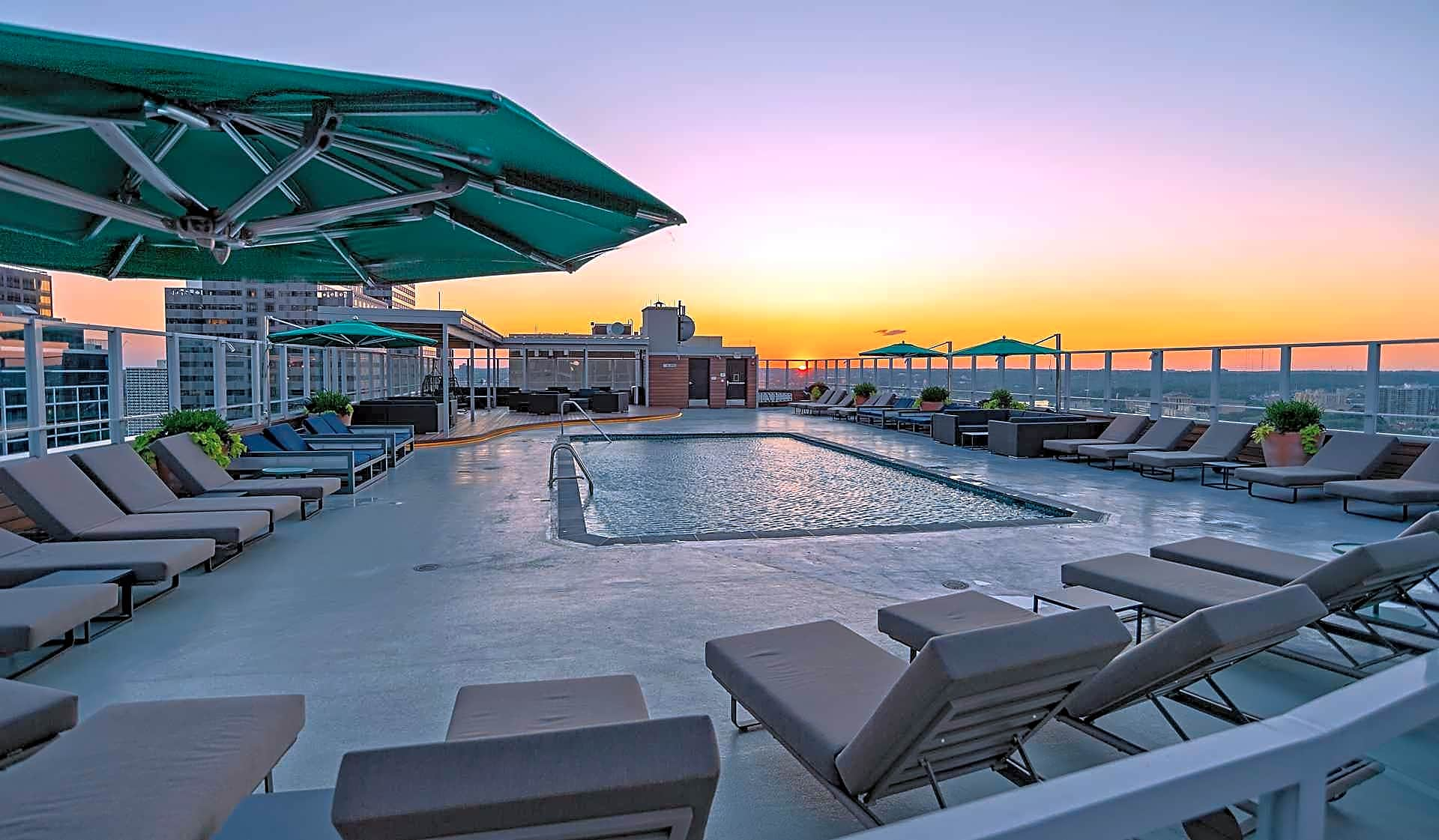 Take a swim in the rooftop pool while taking in the views