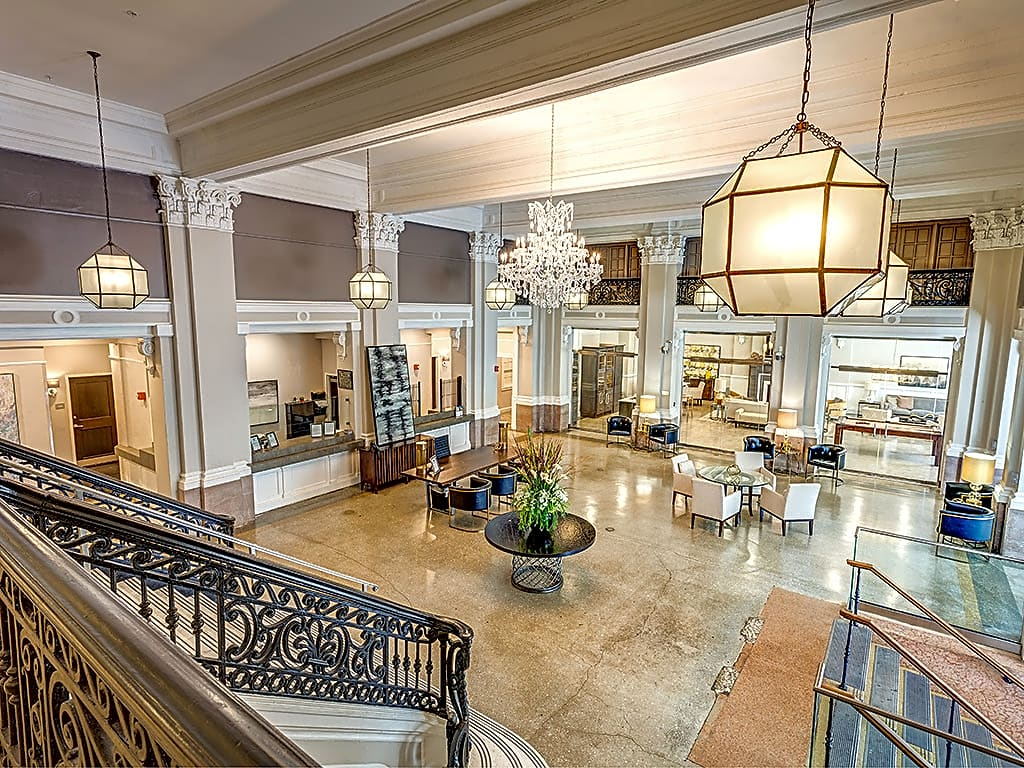 Step into the breathtaking Grand Lobby. Imagine coming home to this every day.