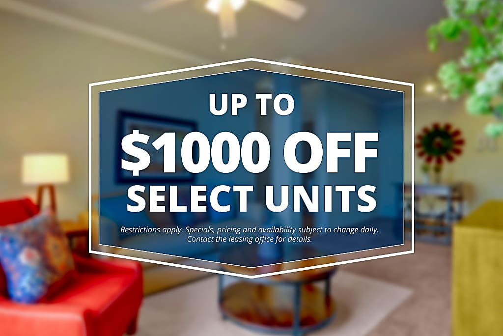 Specials savings coupon $1000 off