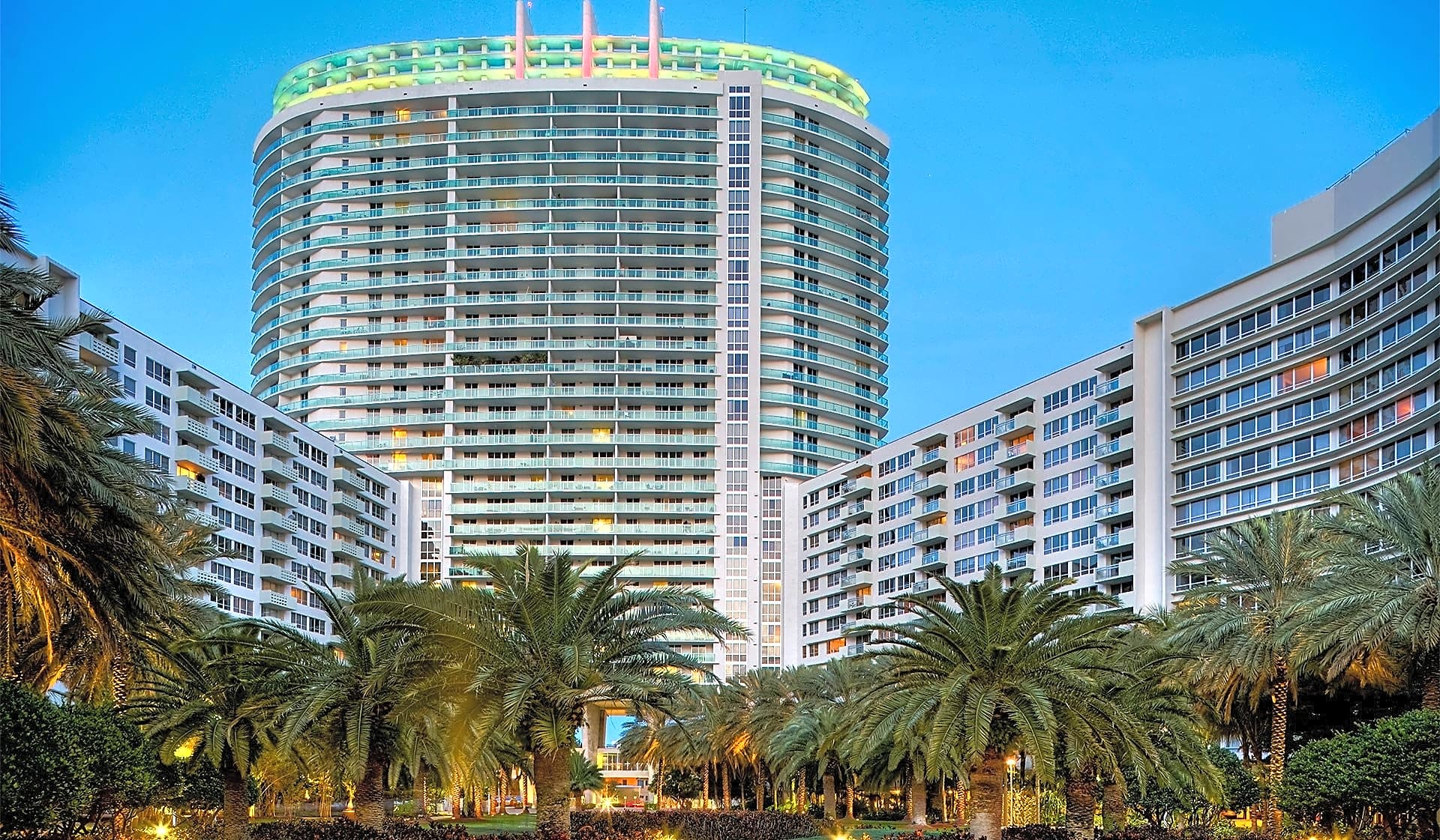 Center tower at Flamingo South Beach