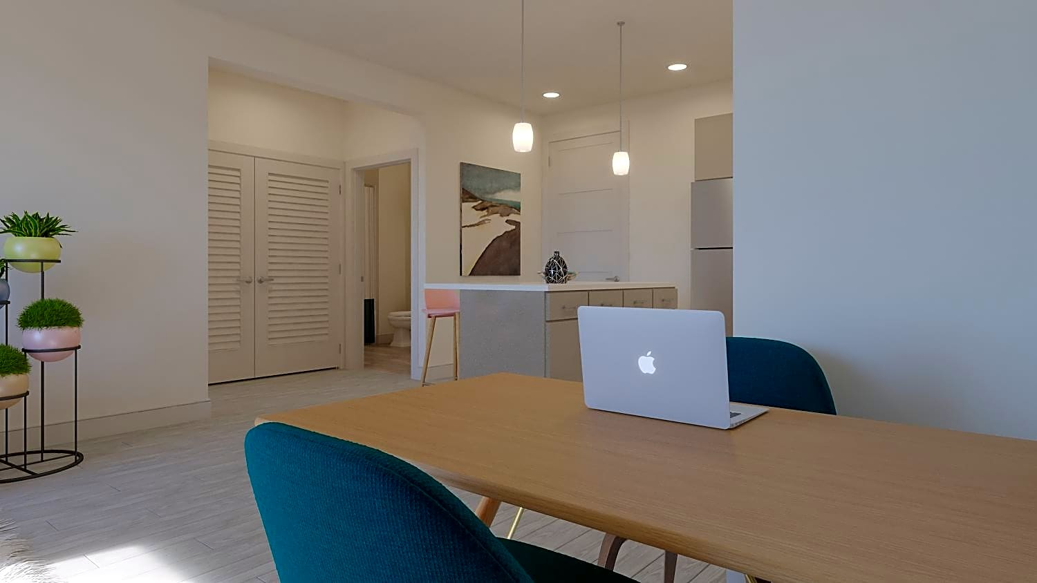 Dining spaces can also double as a home office