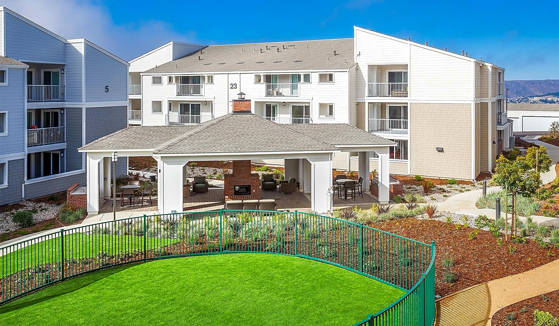 Our pet-friendly community offers a grassy park for your dog to play
