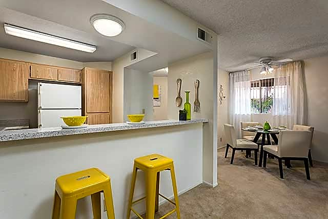 Two Bedroom Apartment Kitchen and Dining Area