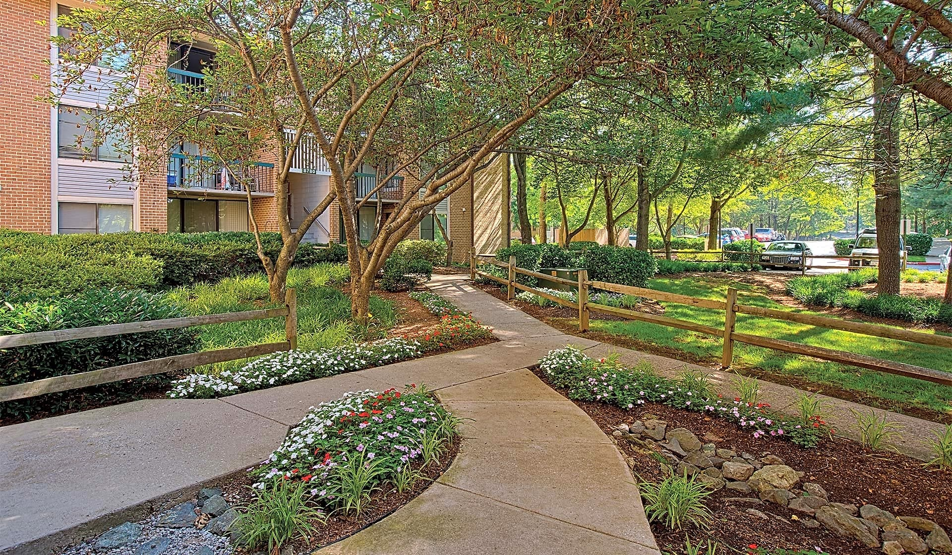 Take a stroll through our landscaped grounds