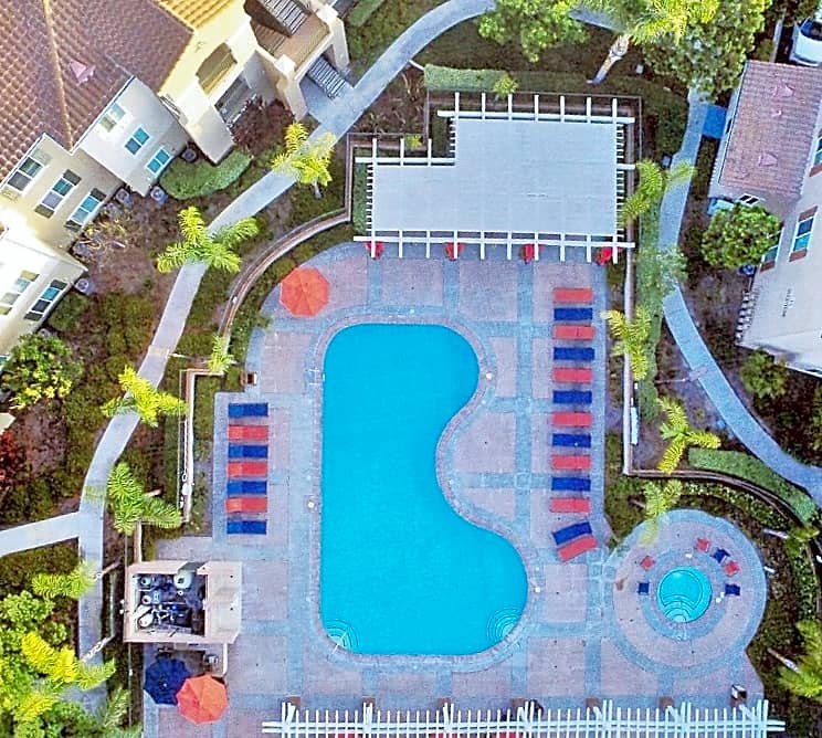 Aerial View of Main Pool Area