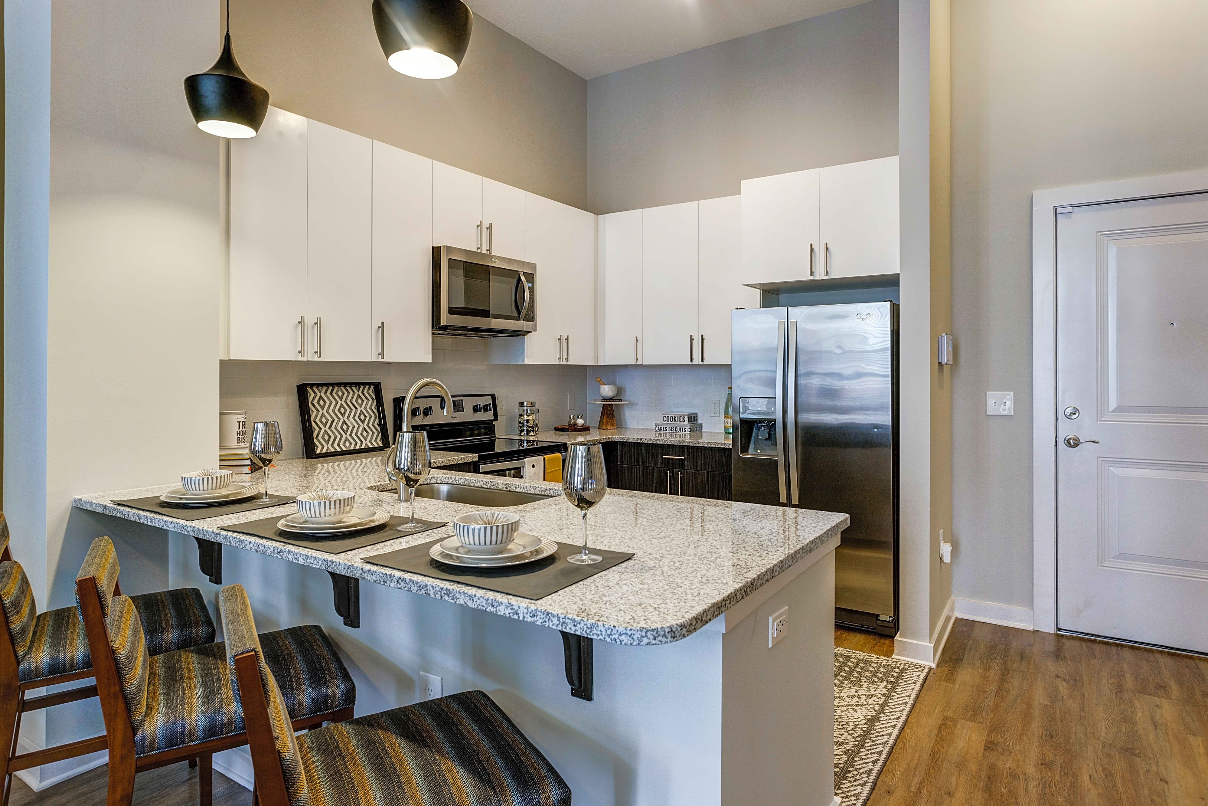 Our kitchens and spacious and full of upgrades!