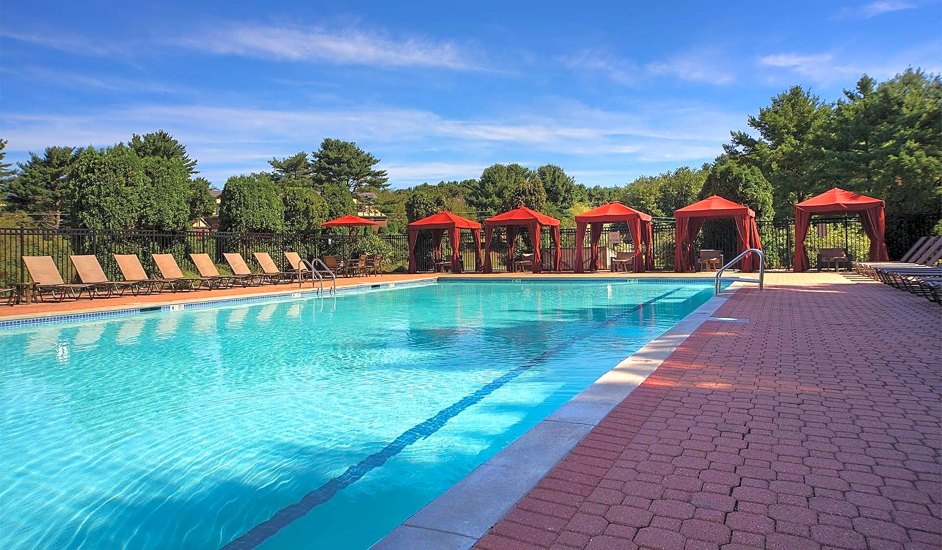 Take a dip in our outdoor swimming pool
