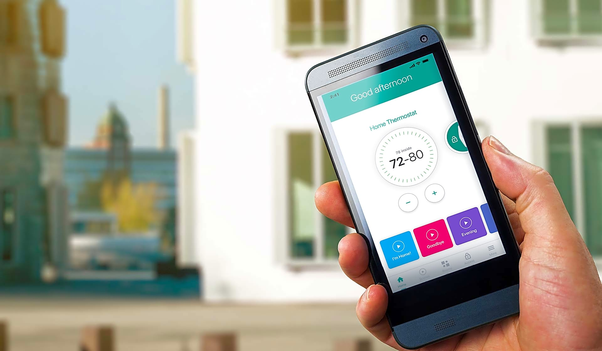 Control the temperature without getting up and never fumble for your keys again. Smart home tech available in every home!