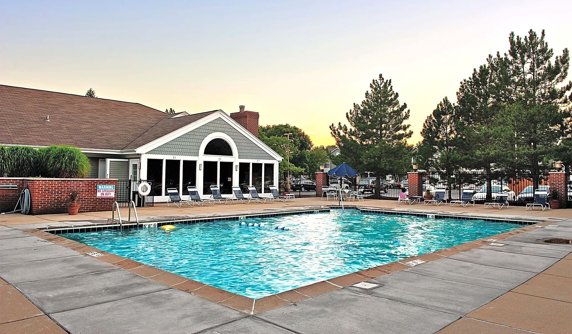Heated outdoor swimming pool and sundeck