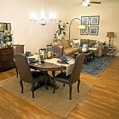 dinning room and living room