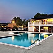 Outdoor pool with large sundeck