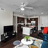 1BR Orchard <BR>Living/Kitchen area
