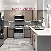 Newly renovated Design Scheme II kitchen with quartz countertops, stainless steel appliances, tile backsplash, and new cabinetry (Representative photo)