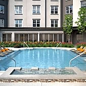 Heated Saltwater Pool at Firewheel Town Village Apartments in Garland, Texas