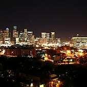 One of the Spectacular Nighttime Views of Downtown Houston from 230 West Alabama Apts