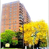 Side view of Passaic Towers
