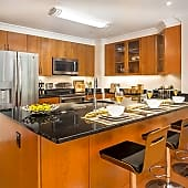 Newly renovated kitchen with breakfast bar