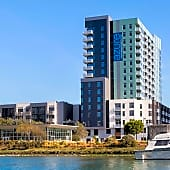 View of Azure Apartments from Mission Bay