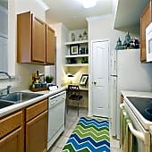 Open kitchens with built-in microwaves
