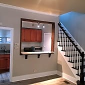 Kitchen and staircase