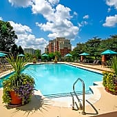 Outdoor pool with sun deck