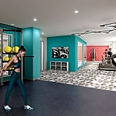 A state-of-the-art fitness studio features strength, cardio and open floor exercise space, as well as Fitness On Demand(tm).