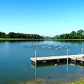 Our seven acre lake is perfect for fishing!