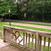 View of the Monon Trail from Deck