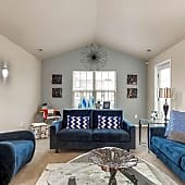 Cathedral Ceiling Living Space &Terrace