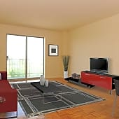 1BR Living Room Leads to Balcony