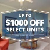 Specials savings coupon $1000 off