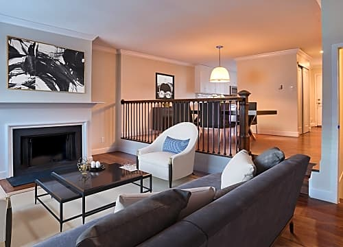 Spacious layouts with wood plank flooring throughout and cozy fireplaces